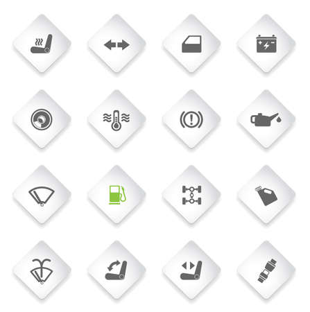 benzine: Car interface simply symbol for web icons and user interface Illustration