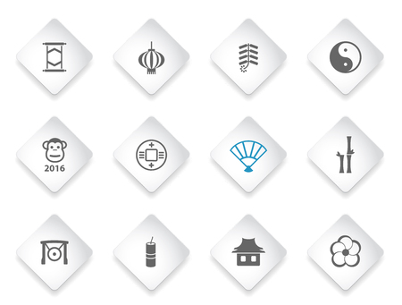 fortuna: Chinese New Year simple icons for web and user interfaces