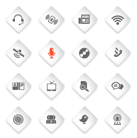 communication icons: Communication icons for web icons and user interface