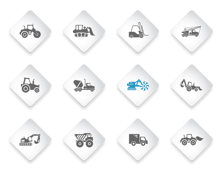 Macchinari per la costruzione semplicemente simboli per il web e l'interfaccia utente