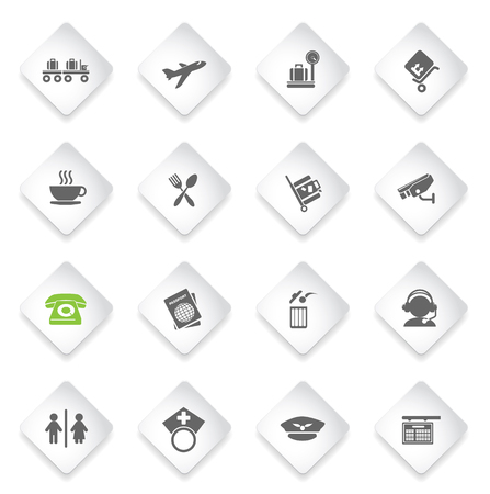 wap: Airport  simply symbols for web and user interface Illustration