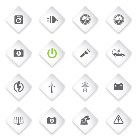 ammeter: Electricity simply symbol for web icons and user interface Illustration