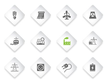 coal power station: Energy and Industry  simply symbols for web and user interface