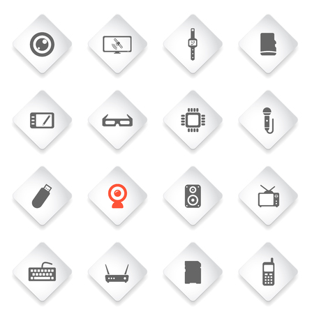 portable console: Gadgets  simply symbol for web icons and user interface Illustration