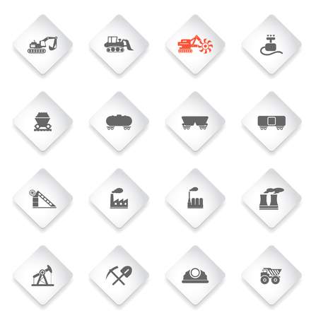 smoke stack: Factory and Industry  simply symbols for web and user interface
