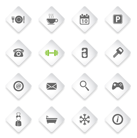 cold room: Hotel simply symbol for web icons and user interface