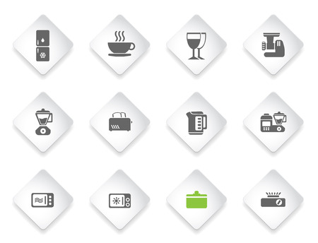 household objects equipment: Kitchen Utensils  simply symbols for web and user interface