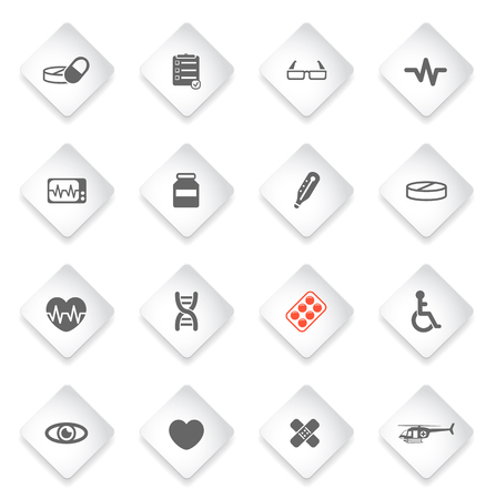 cardiograph: Medical simply symbol for web icons and user interface Illustration