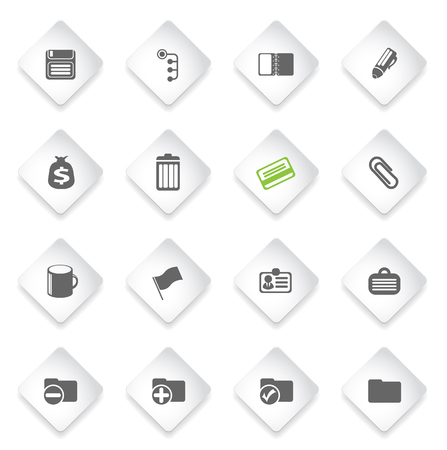 note pad and pen: Office  simply symbols for web and user interface Illustration