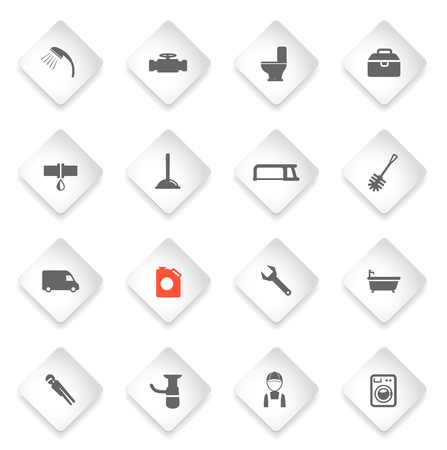 siphon: Plumbing service simply symbol for web icons and user interface