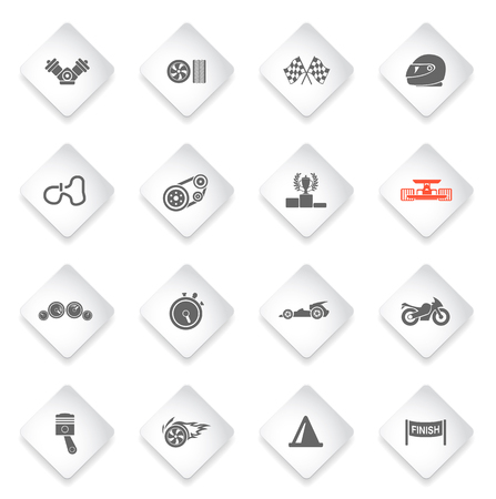 gearshift: Racing  simply symbols for web and user interface