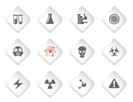 Science gewoon symbolen voor web en gebruikersinterface Stock Illustratie