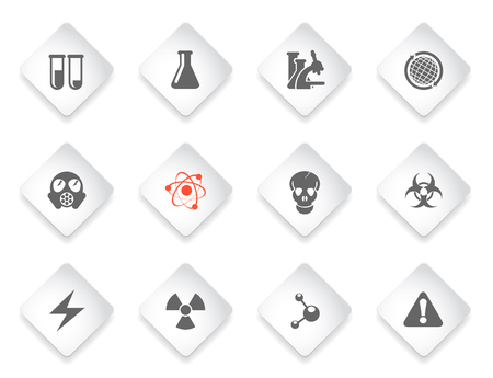 gas mask warning sign: Science  simply symbols for web and user interface Illustration