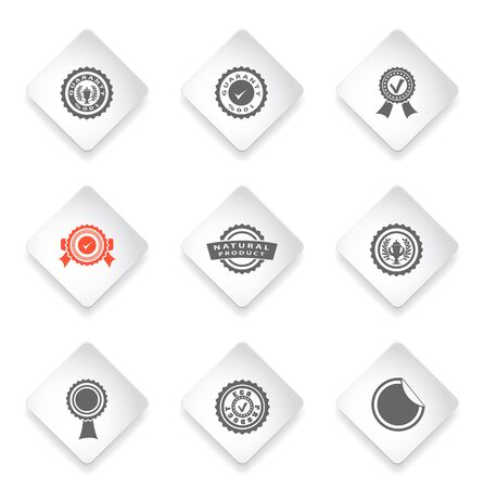 great seal: Seals  simply symbols for web and user interface