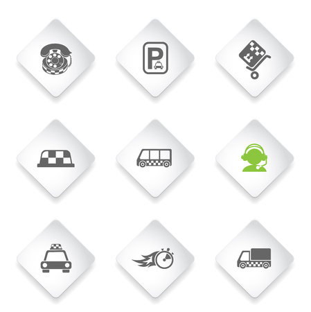 parking disk: taxi services  simply symbols for web and user interface Illustration