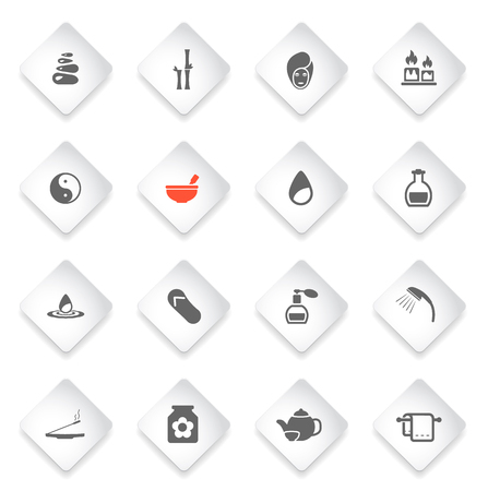 medical shower: Spa simply symbol for web icons and user interface
