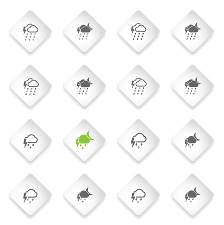 hail: Weather simply icons for web and user interface Illustration