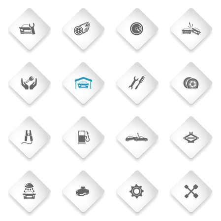 auto service: Auto Service simply symbol for web icons and user interface
