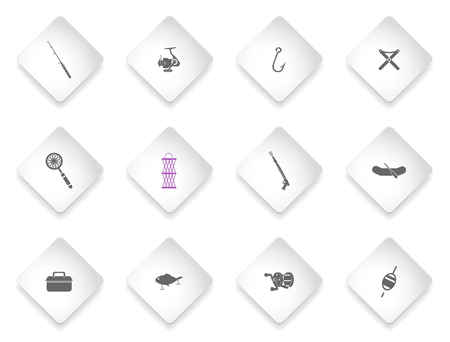 Fishing simply symbols for web and user interface