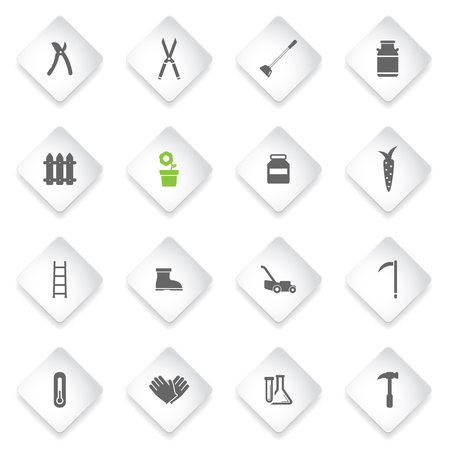 ladder  fence: Garden tools simply symbol for web icons Illustration
