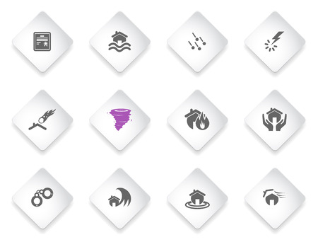 hailstone: Home Insurance  simply symbols for web and user interface Illustration