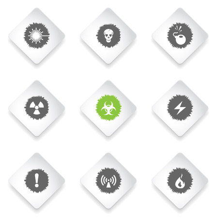 laser hazard sign: Hazard  simply symbols for web and user interface