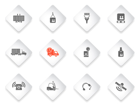 overnight delivery: Logistics  simply symbols for web and user interface