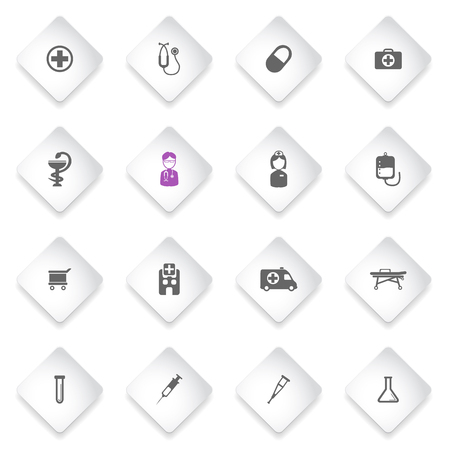 trolley case: Medical simply symbol for web icons and user interface Illustration