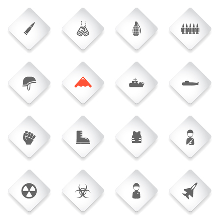 frag: Military simply symbol for web icons and user interface
