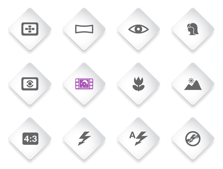 modes: Modes of Photo  simply symbols for web and user interface