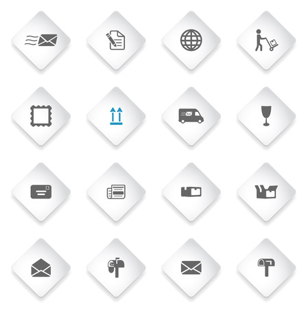 recipient: Post service simply symbol for web icons and user interface
