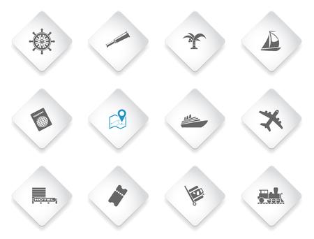 Toerisme en Reizen gewoon symbolen voor web en gebruikersinterface Stockfoto - 52361071