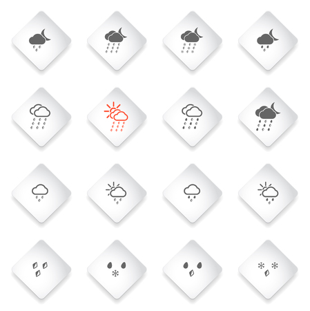 rainfall: Weather simply icons for web and user interface Illustration