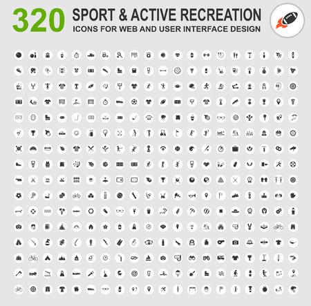 ricreazione: Icone di sport e varie attività ricreative per il web