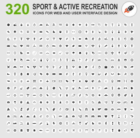 recreation: Sport and active recreation icons for web