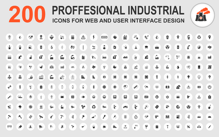proffesional: Professional industrial icons for web and user interface