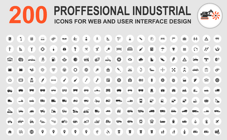 power icon: Professional industrial icons for web and user interface