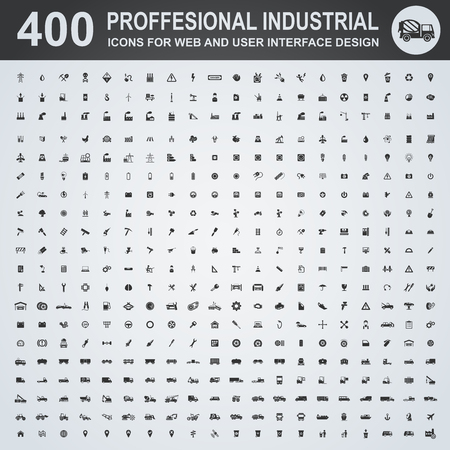 Professional industrial icons for web and user interface 免版税图像 - 52833668