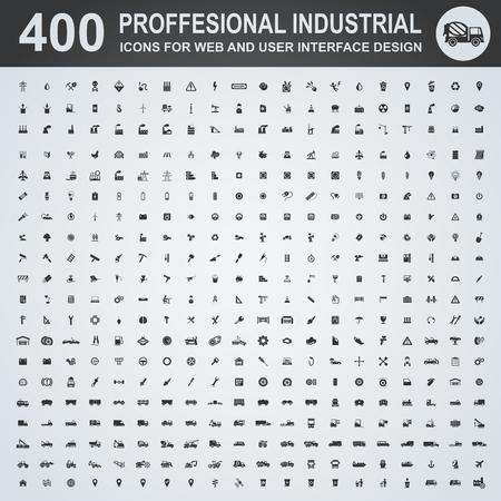 Professionele industriële iconen voor web-en user interface