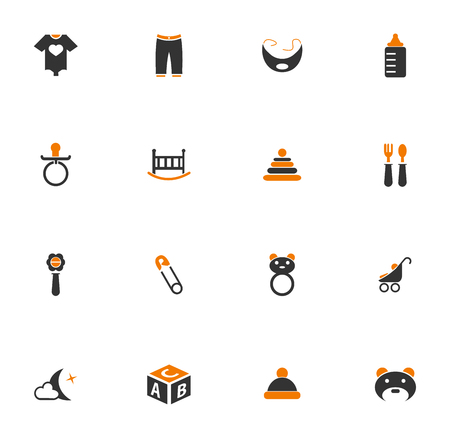 moon chair: Baby simply icons for web and user interfaces