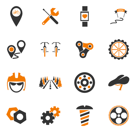 shoe repair: Bicycle simply icons for web and user interfaces Illustration