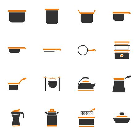 Geschirr Symbole einfach für Web und Benutzeroberflächen