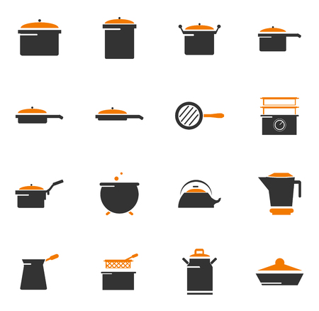 pressure bottle: Dishes simply icons for web and user interfaces