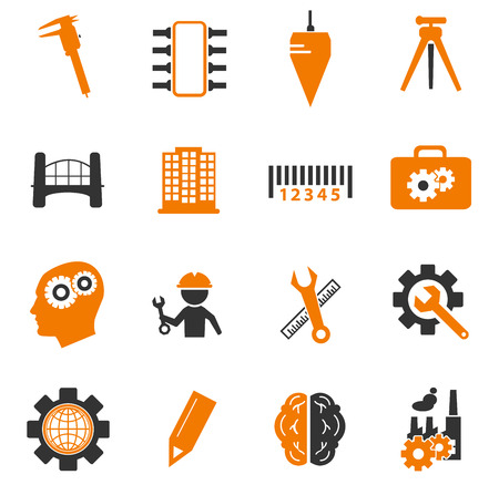 civil engineers: Engineering simply icons for web and user interfaces