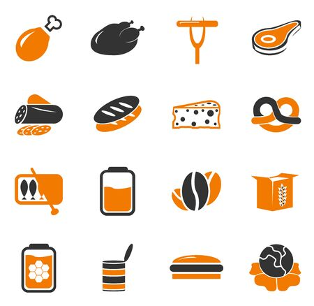 gravy: Grocery store simply icons for web and user interfaces Illustration