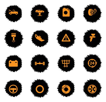 oiler: Car service vector icons for web sites and user interface Illustration