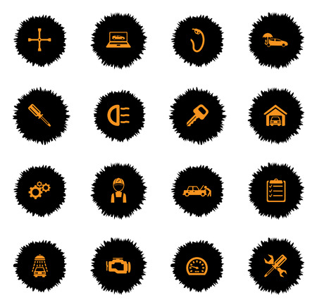 refueling: Car service  vector icons for web sites and user interface