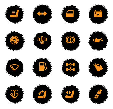 benzine: car interface color icon for web sites and user interface Illustration