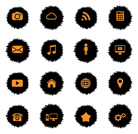 web sites: Social media vector icons for web sites and user interface