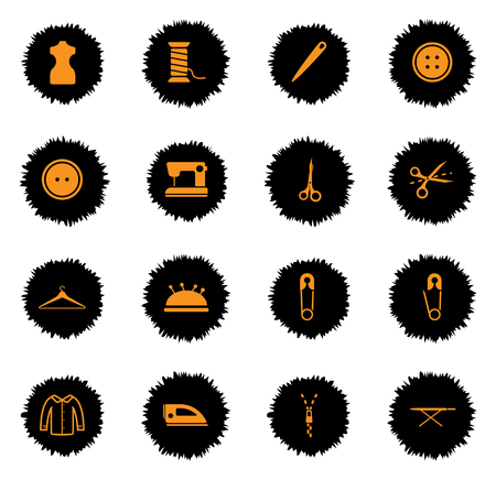 needle cushion: Tailoring  vector icons for web sites and user interface